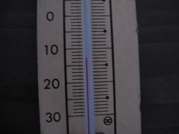 今朝7時の気温 IMG_5675