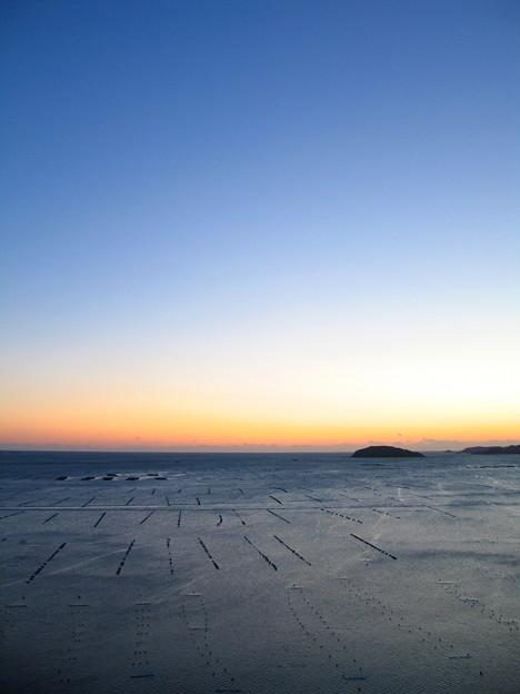 夜明け前@南三陸・志津川湾