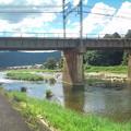 Photos: この時期名張川は鮎釣りの人で少し賑わいます