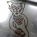 写真: バットに下書き。こんな感じか?