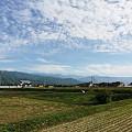 刈田と空とアルプスと。