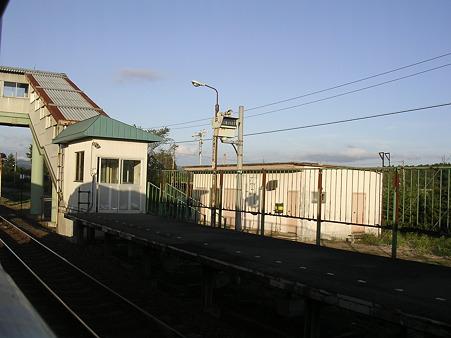 東追分駅ホーム3
