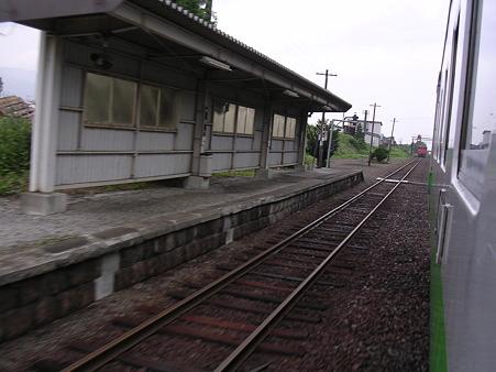 山部駅ホーム1