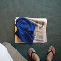 写真: 水着の乾かし方