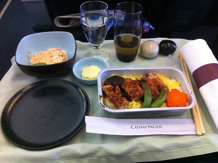 キャセイパシフィック機内食