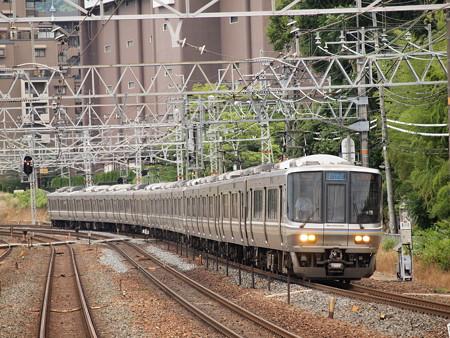 223系新快速東海道本線山崎駅01