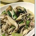 ◆きのこと青梗菜のバタぽん炒め 033