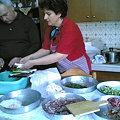 復活祭の料理の準備