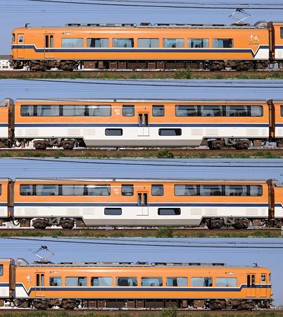 近鉄30000系30214F(V14)海側側面 2010.11.20