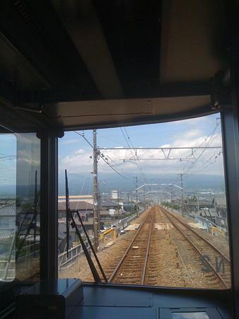 富士に向かって行く見延線