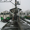 Photos: 小出駅 只見線ホーム キハ40系東北色