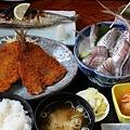 Photos: 安房鴨川 地魚料理 船よし/アジのセット 1575円