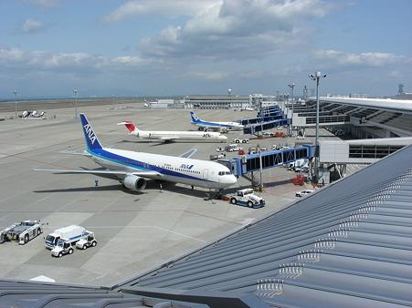 中部国際空港の国内線の様子