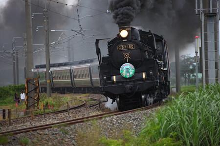 C57-180快速「SL山形DC架け橋号」4