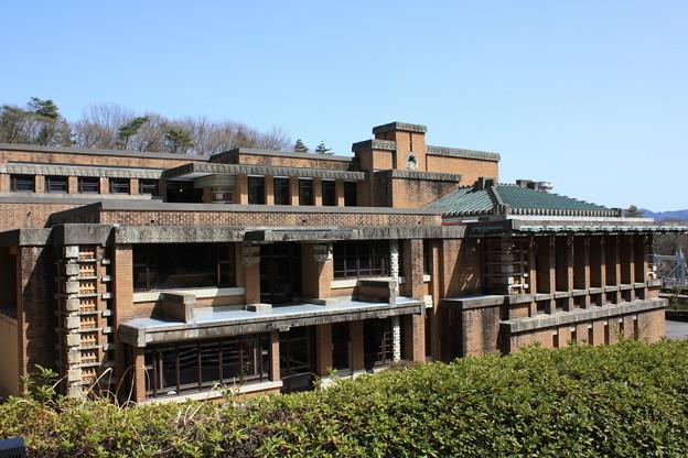 帝国ホテル中央玄関~外観を横から