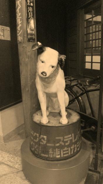 セピアなビクター犬