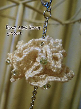 ふわふわお花のピアス 3