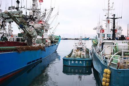 2010.10.28 八戸漁港 働く船
