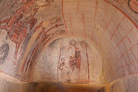 2011.01.26 トルコ カッパドキア ギョレメ野外博物館 ユランル・キリセの壁画-4