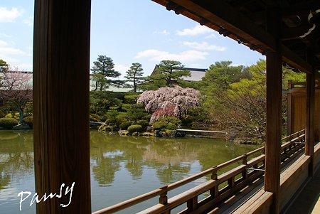 橋殿から見た風景・・