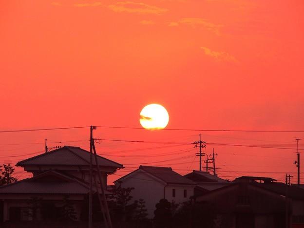 紅(くれない)夕日・・・。