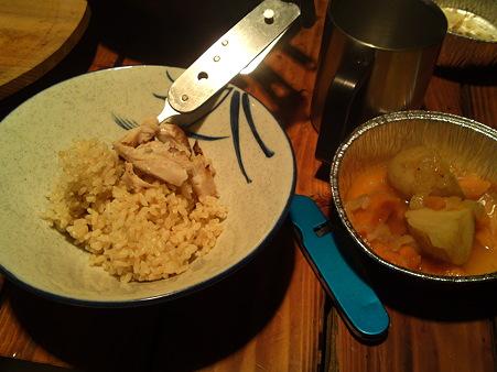 中川ログハウスでの夕食