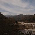 与田切川から中央アルプス遠望