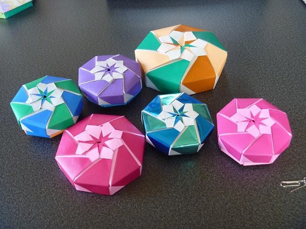 簡単 折り紙:折り紙 箱 八角形-photozou.jp