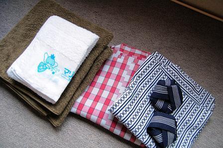 タオル、バスタオル、浴衣