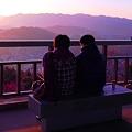 語り合う夕陽の二人 in 浄土寺山展望台