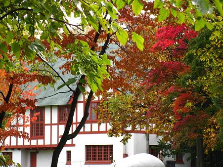 知事公館と紅葉
