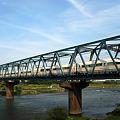 本日の一枚。相模川を渡るロマンスカー。