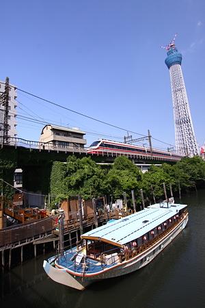 源森橋から東武電車