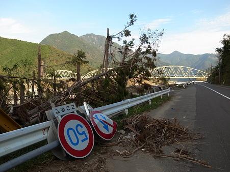 国道168号線・台風12号その後-29