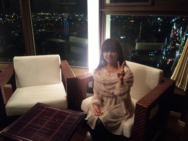 写真: もうすぐここから配信(・∀・)大手門タワー最上階にゃう♪ #satoppiko